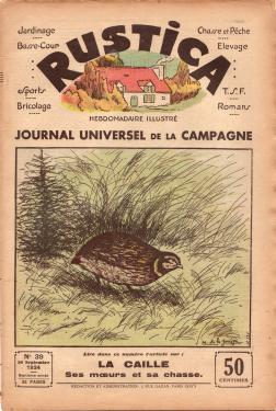 Couverture revue rustica, No 39, septembre 1934
