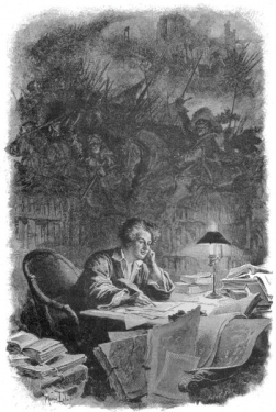 -Alexandre Dumas en pleine inspiration