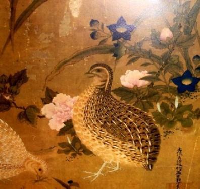 caille, art japonais