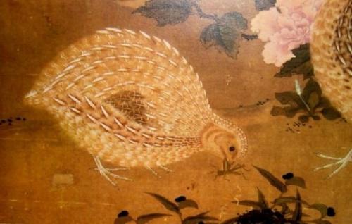 détail lithographie japonaise de Tosa Mitsuoki