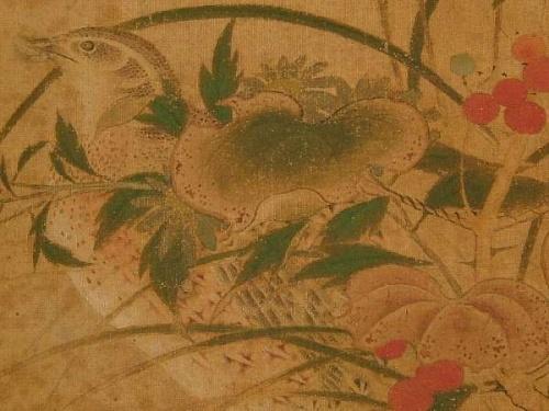 Caille dans les herbes d'automne, détail, koso