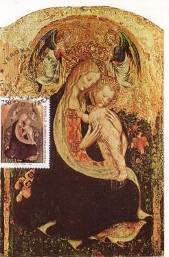 carte postale et timbre