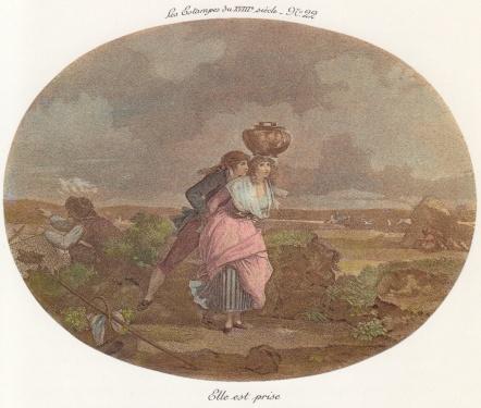 Gravure 18eme siècle, Elle est prise