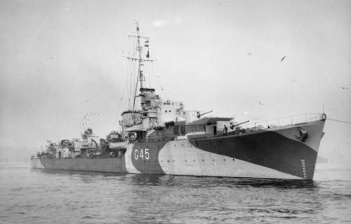 Photo du destroyer HMS Quail