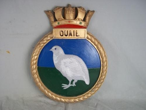 HMS Quail plaque bateau 1942 Q-Class Destroyer