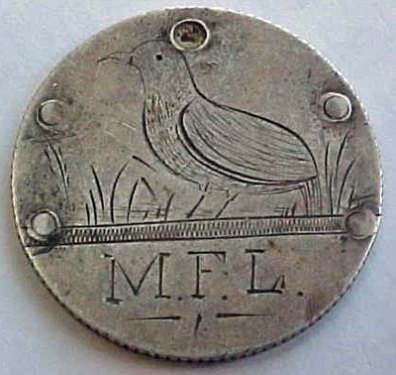 Quail Love Token 1875 face 2